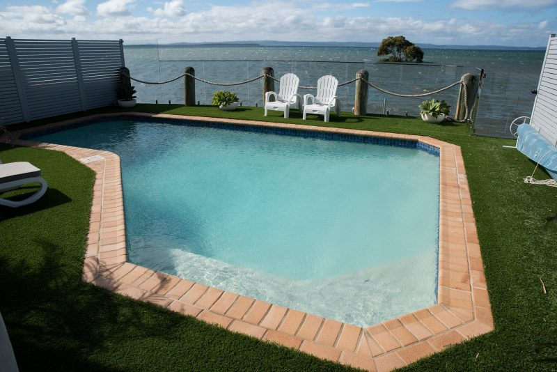 Pool overlooking Moreton Bay