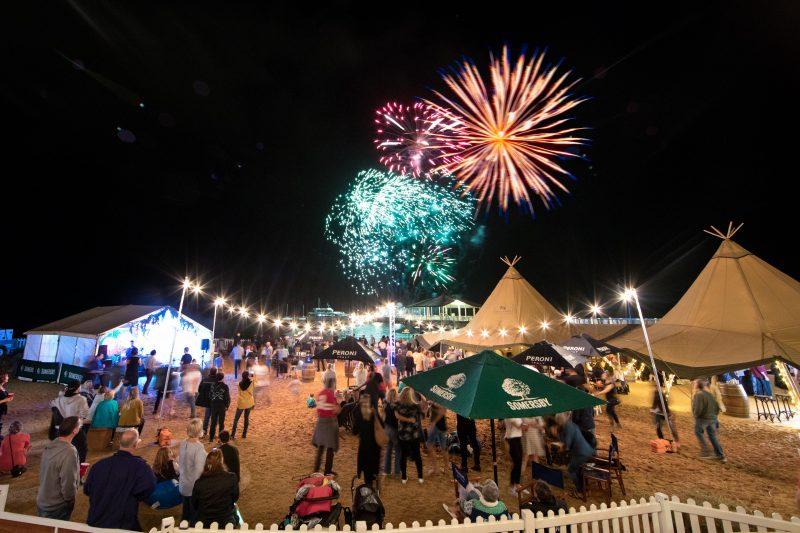 Moreton_Bay_Food_and_Wine_Festival_Beach_Tipi_Fireworks_Family_Event_near_Brisbane