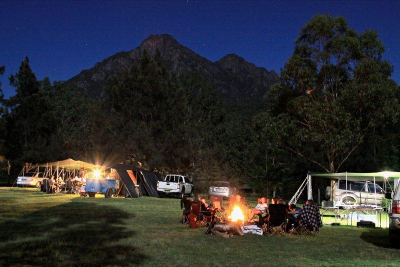 Camping at Mt Barney Lodge