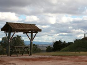 Picnic area atop of Mount Wooroolin