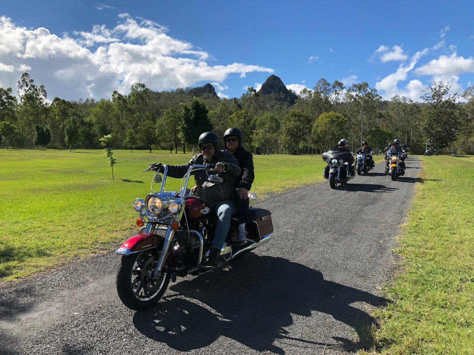 Ride pillion on the back of a Harley Davidson through beautiful SEQ.