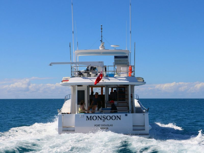 Relax on the top deck and enjoy the panoramic views on the way to your first snorkel or fishing site