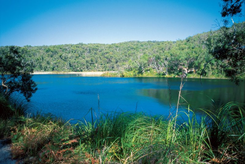 Blue waters of Blue Lake