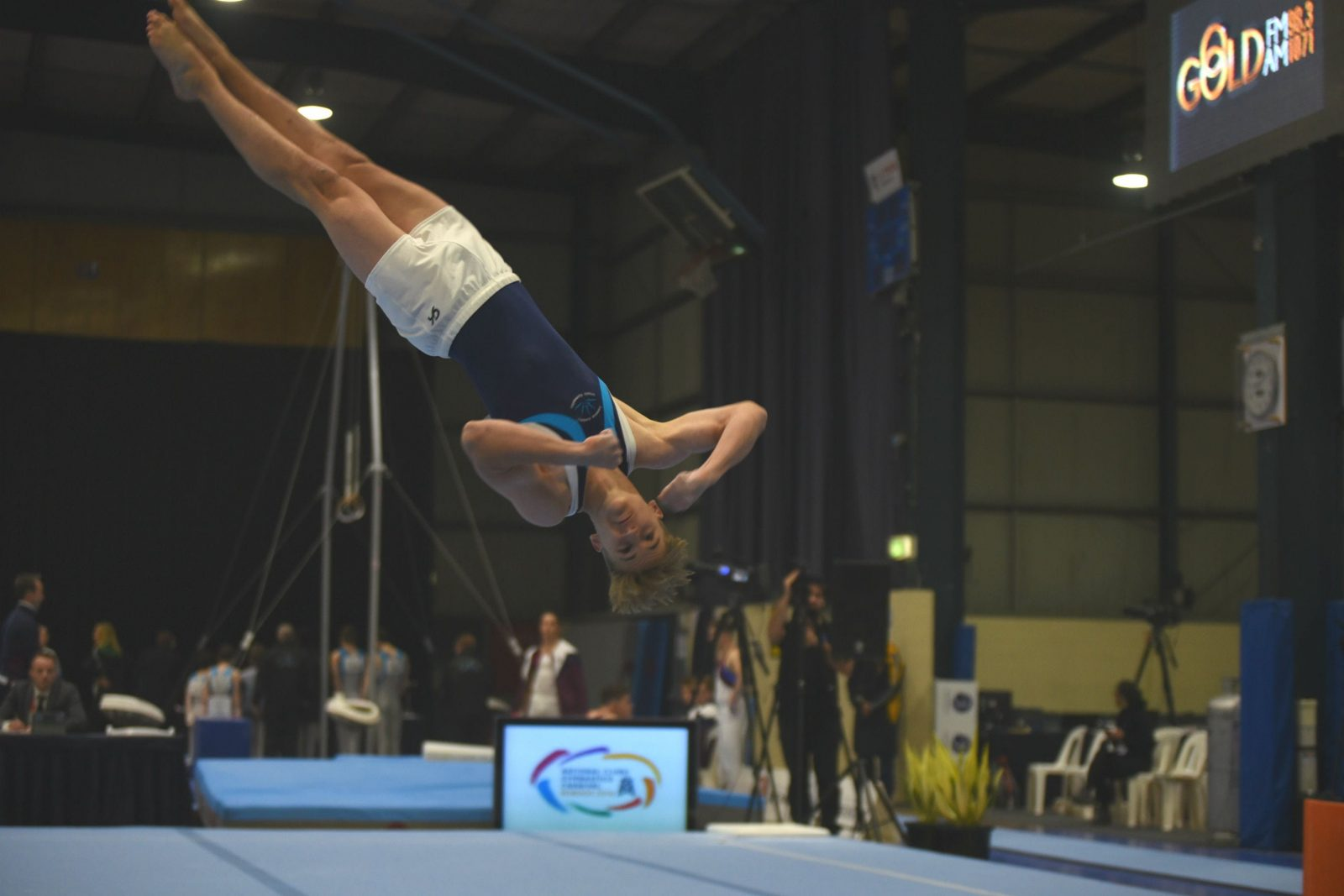 Male gymnast floor exercise national clubs carnival