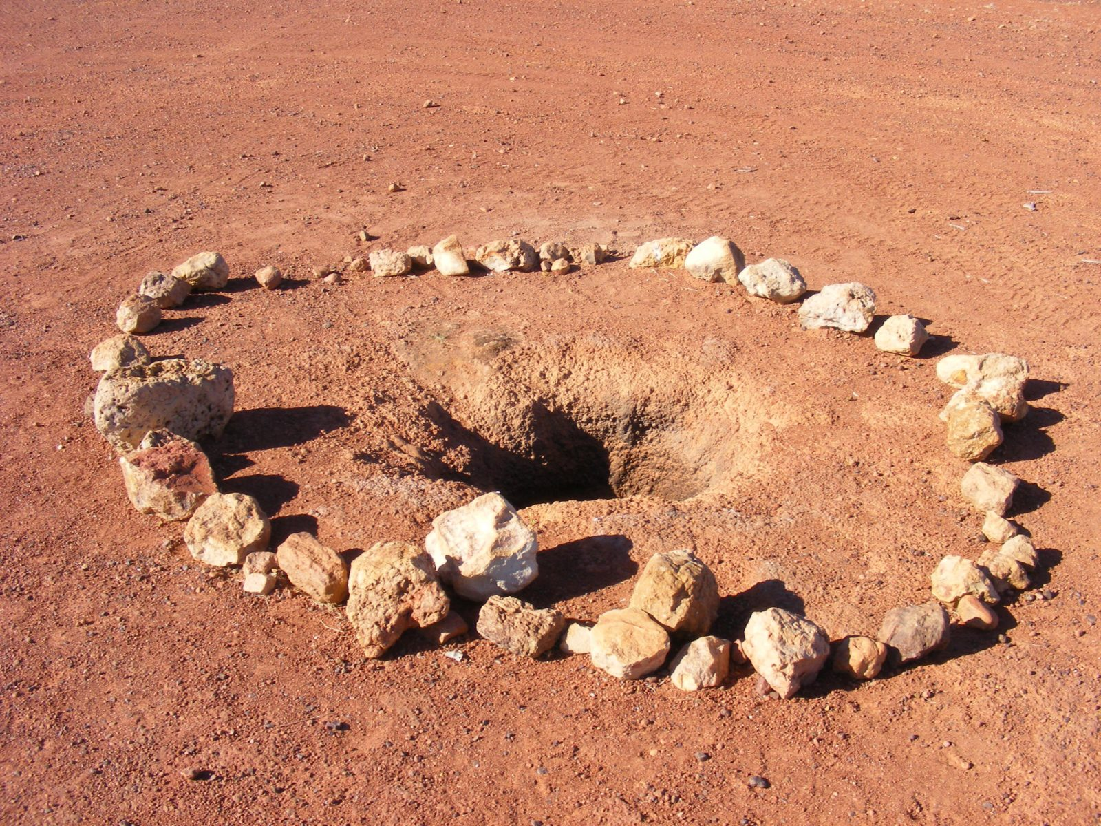 Just by the side of the road, west of Windorah are two Native Wells.