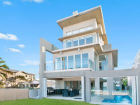 Four storey, absolute beachfront residence