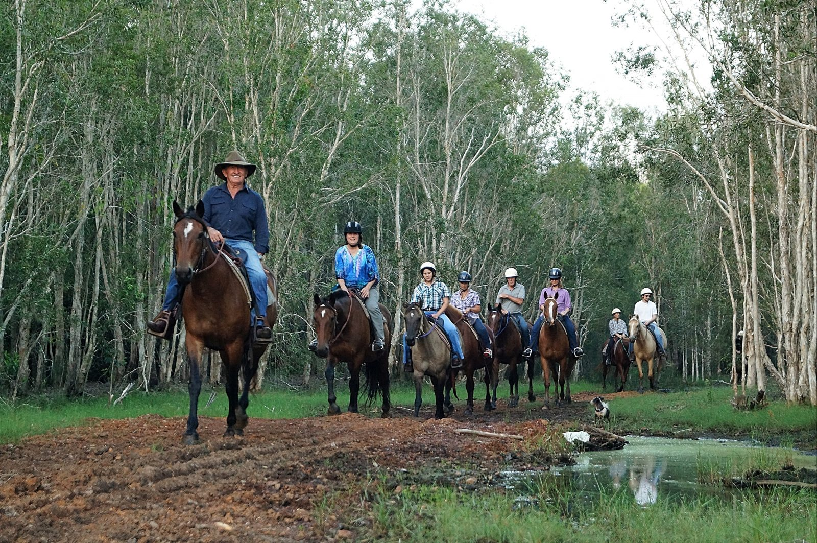 Horse back riding through the property with Norman McLean leading