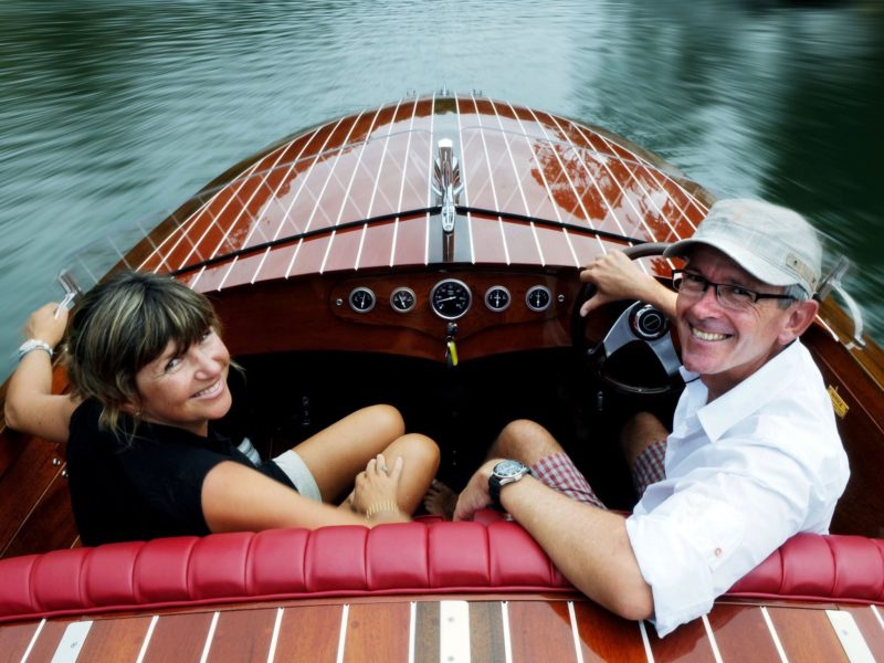 Michael and Sandy from Noosa Dreamboats Classic Boat Cruises