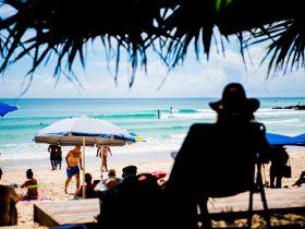 Enjoying the beach and surf