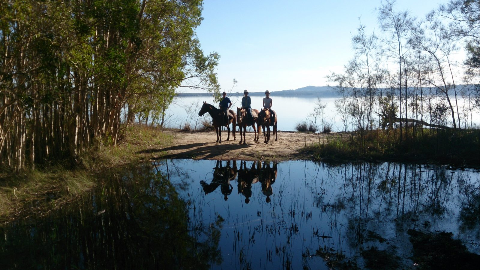 Our guide and two riders refections