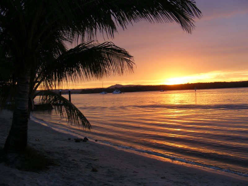 Noosa River Holiday Park sunset views