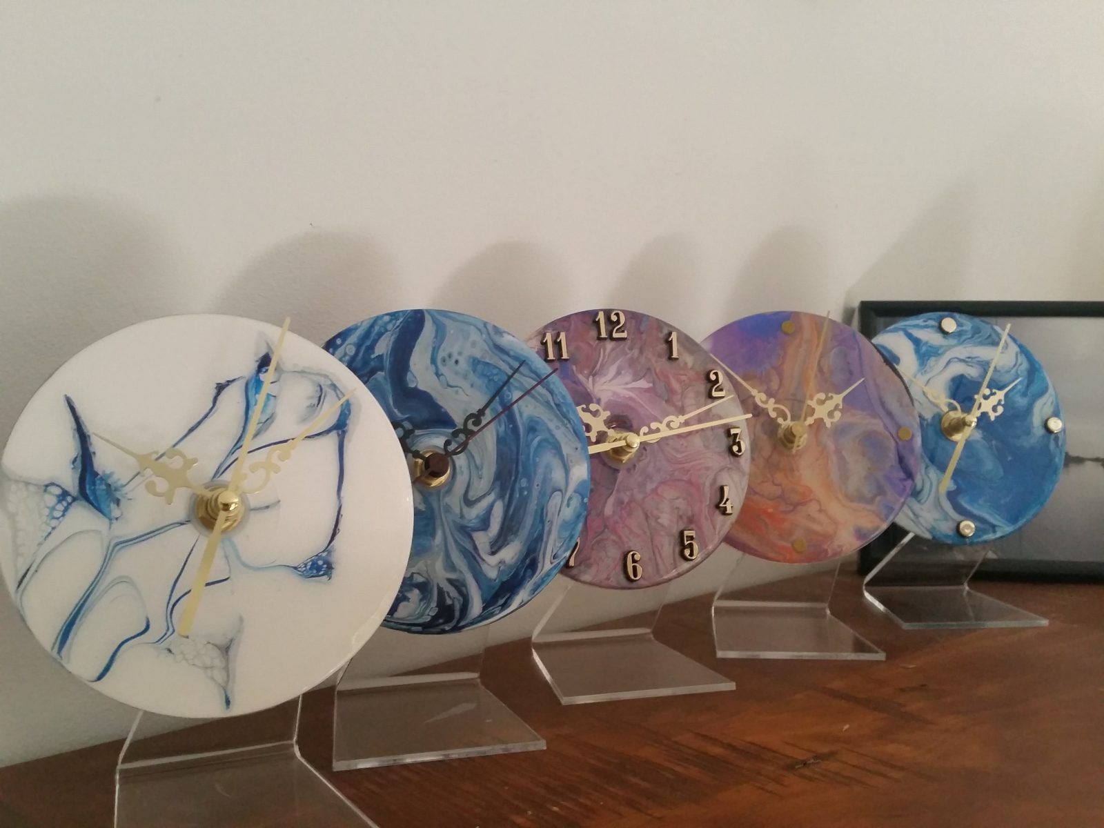 Acrylic clocks