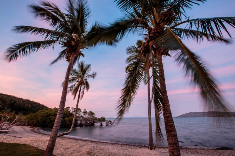 Whitsundays sunset Airlie Beach