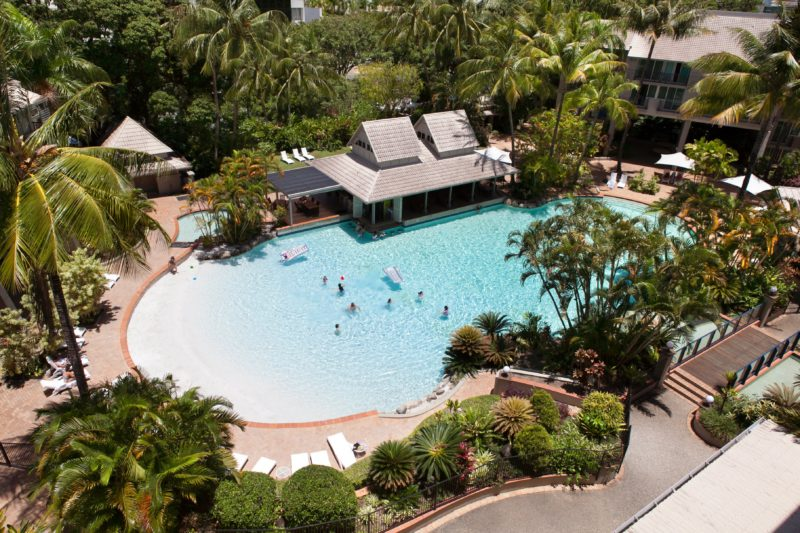 Novotel Cairns Oasis Resort aerial view