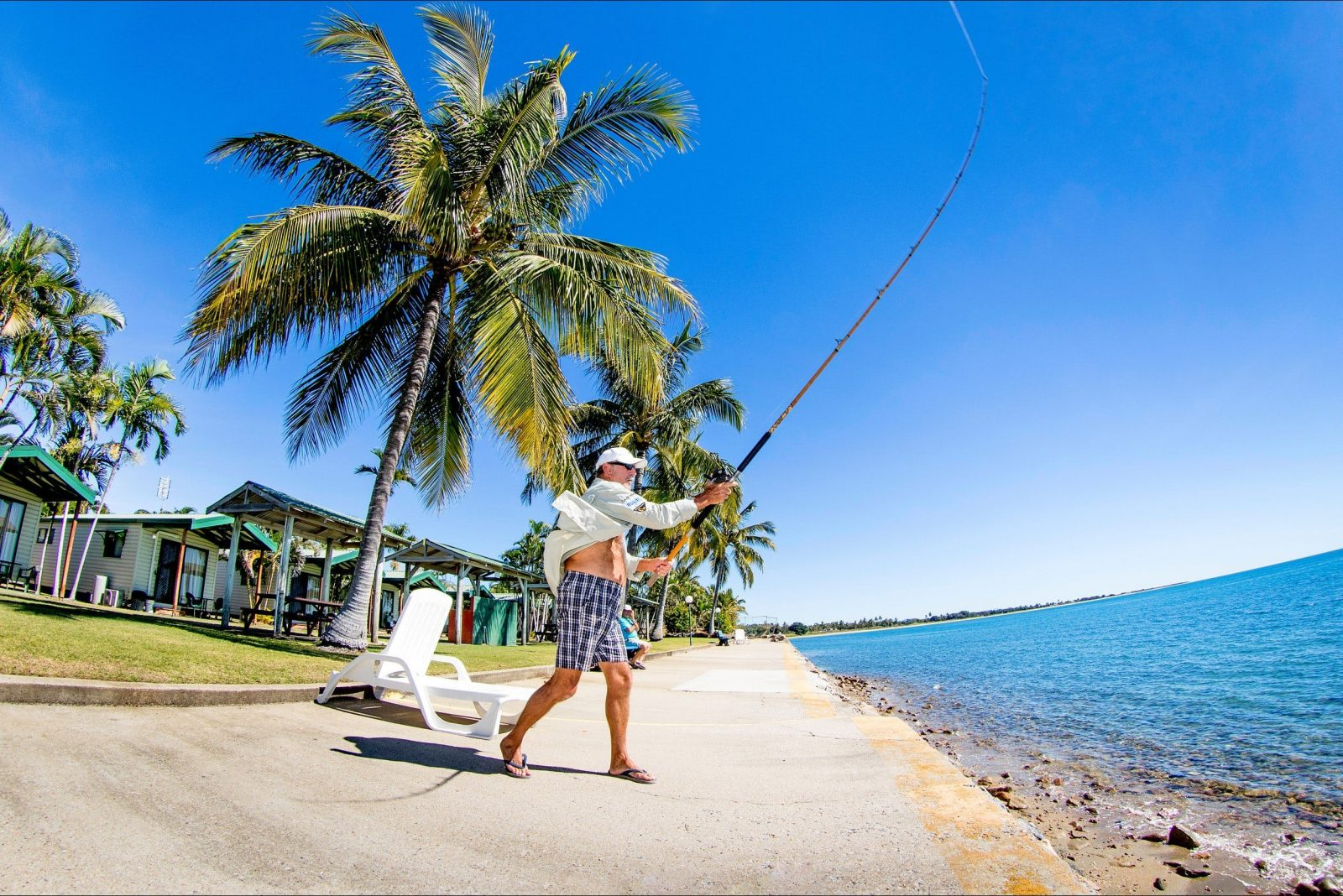Fishing is a plenty here in Bowen. You can fish right from the breakwall just metres from your room.