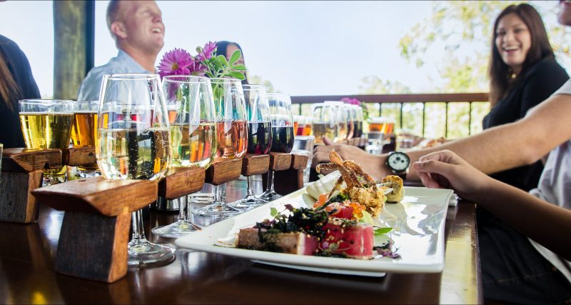Share food with friends and taste our craft beer and wine