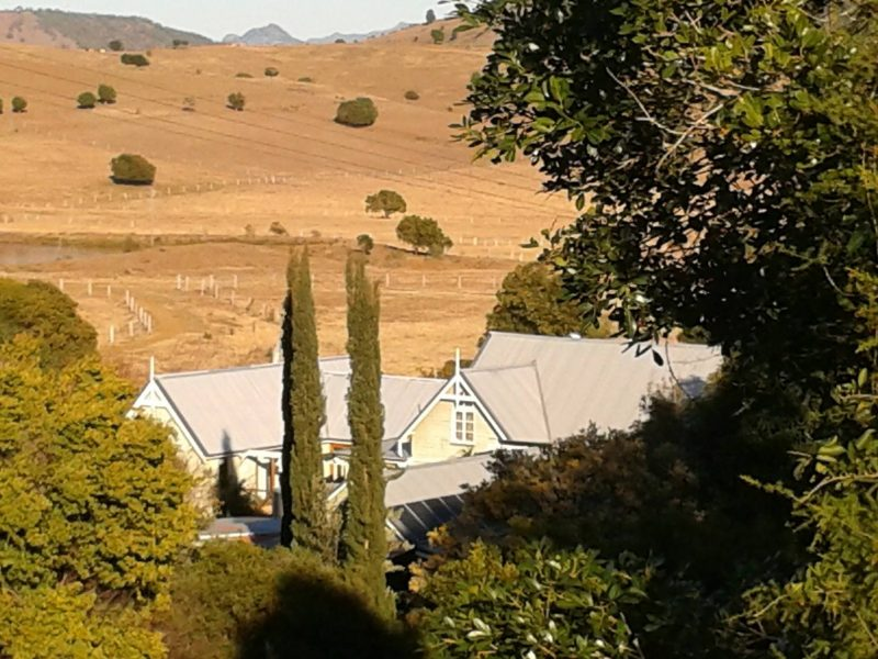Beautiful view of the Old Church from the hills