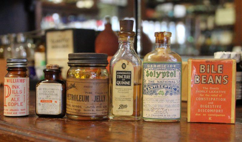Old pill bottles