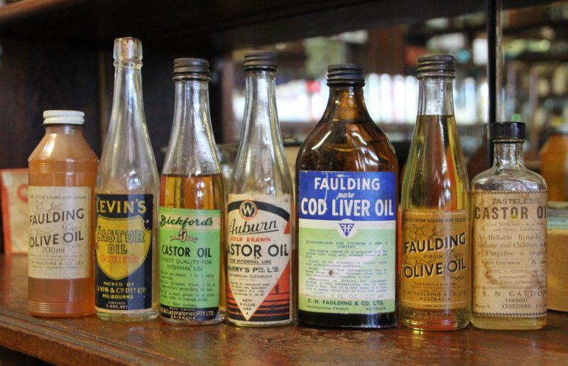 Old oil bottles