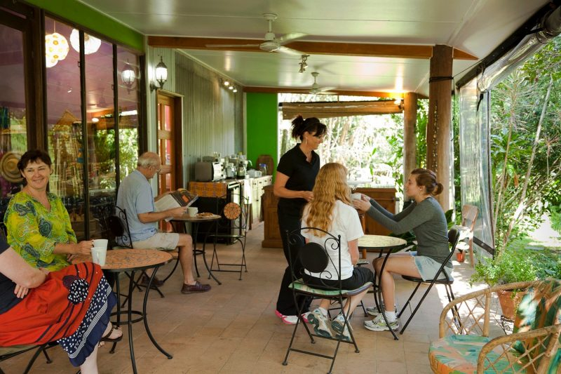 Relax on their verandah garden coffee and teahouse