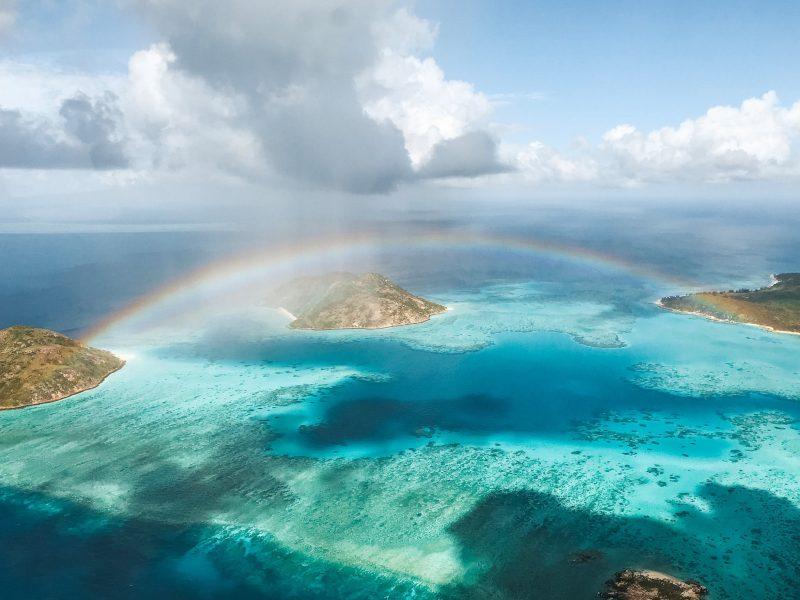 Rainbow over Lizard Island