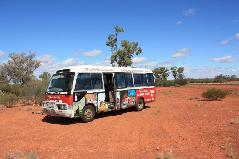 Tour Bus Outback Cunnamulla