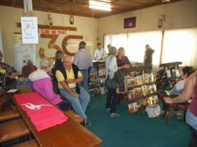 Outback books on display
