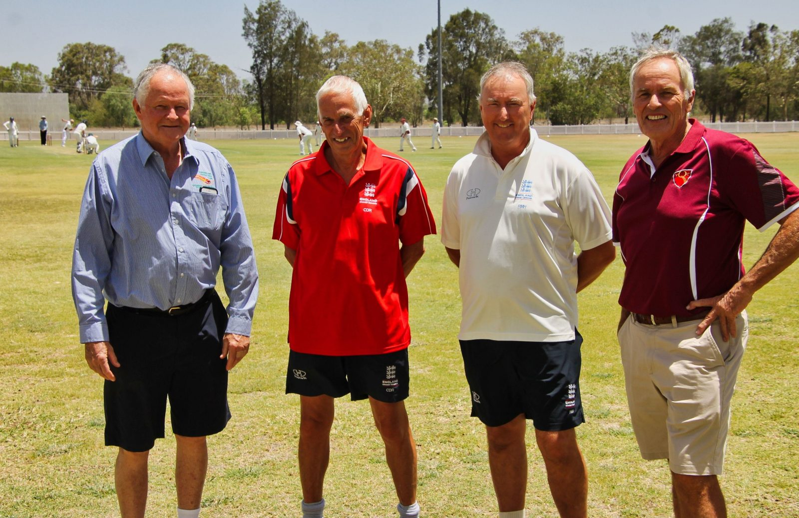 O60's Qld Veterans Patron with Clive, Richard and Kerry at Laidley for the Uk tour match.