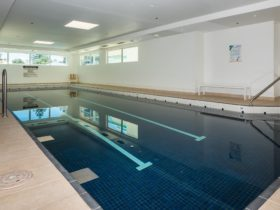 Indoor pool 14 metres in length