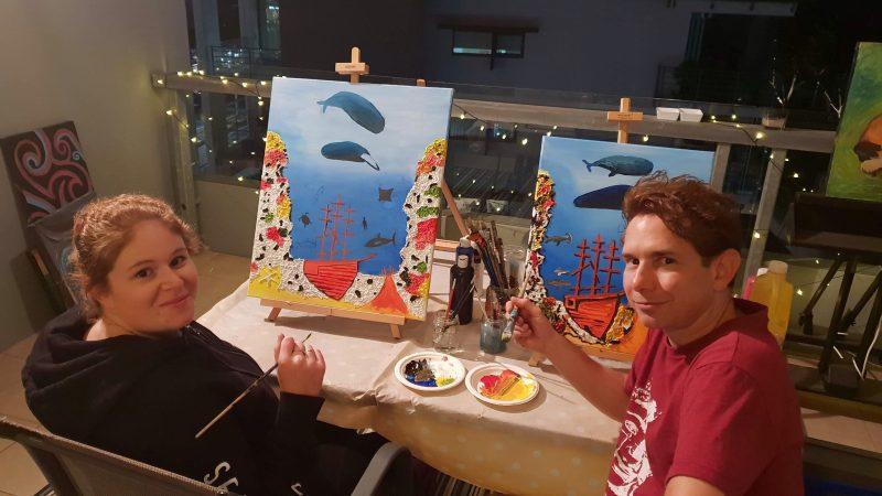 Painting is called 'Barrier Reef Treasure'