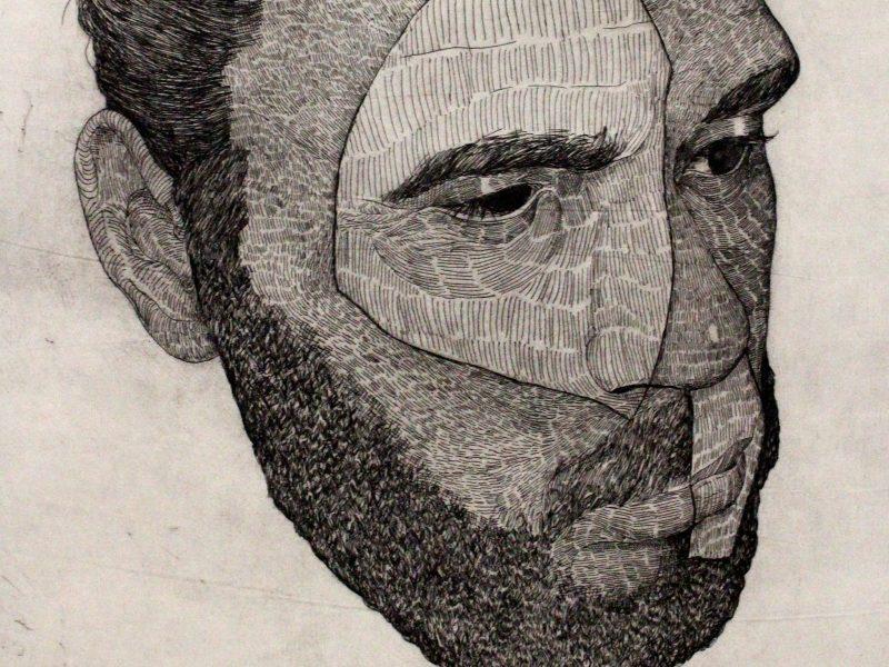 Tori-Jay Mordey, copper etching portrait