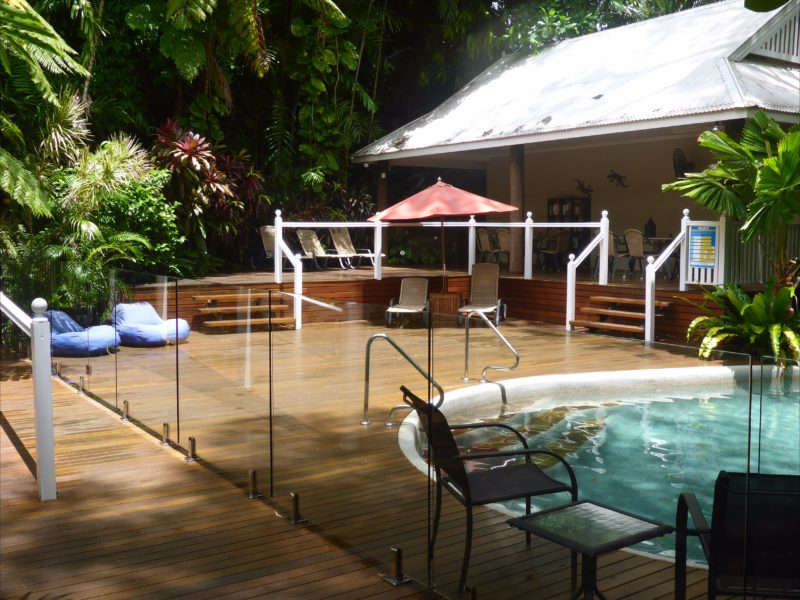 Heated Lagoon Pool and BBQ area Palm Cove Tropic Apartments