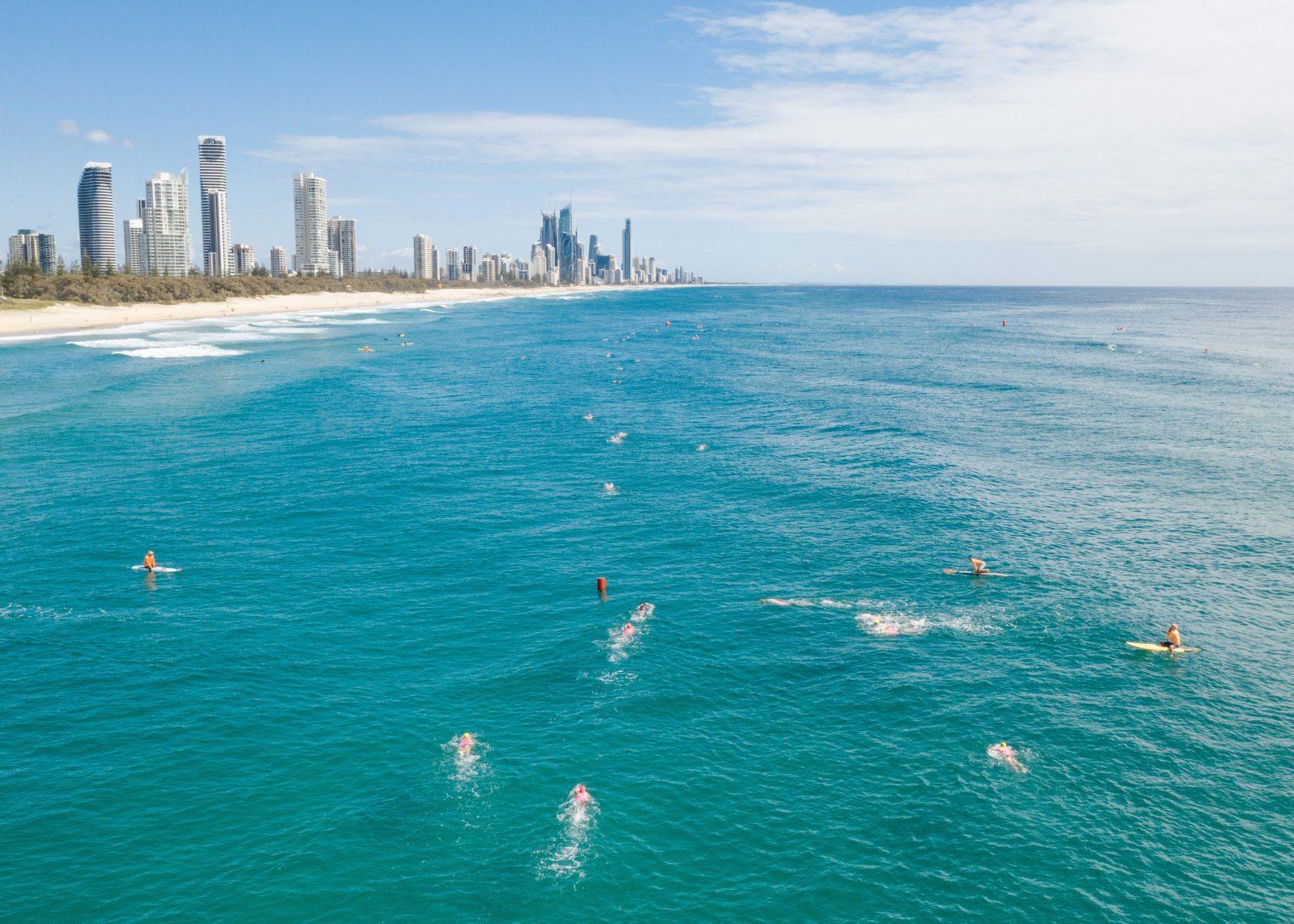 Pan Pacific Masters Games ocean swim at Mermaid Beach