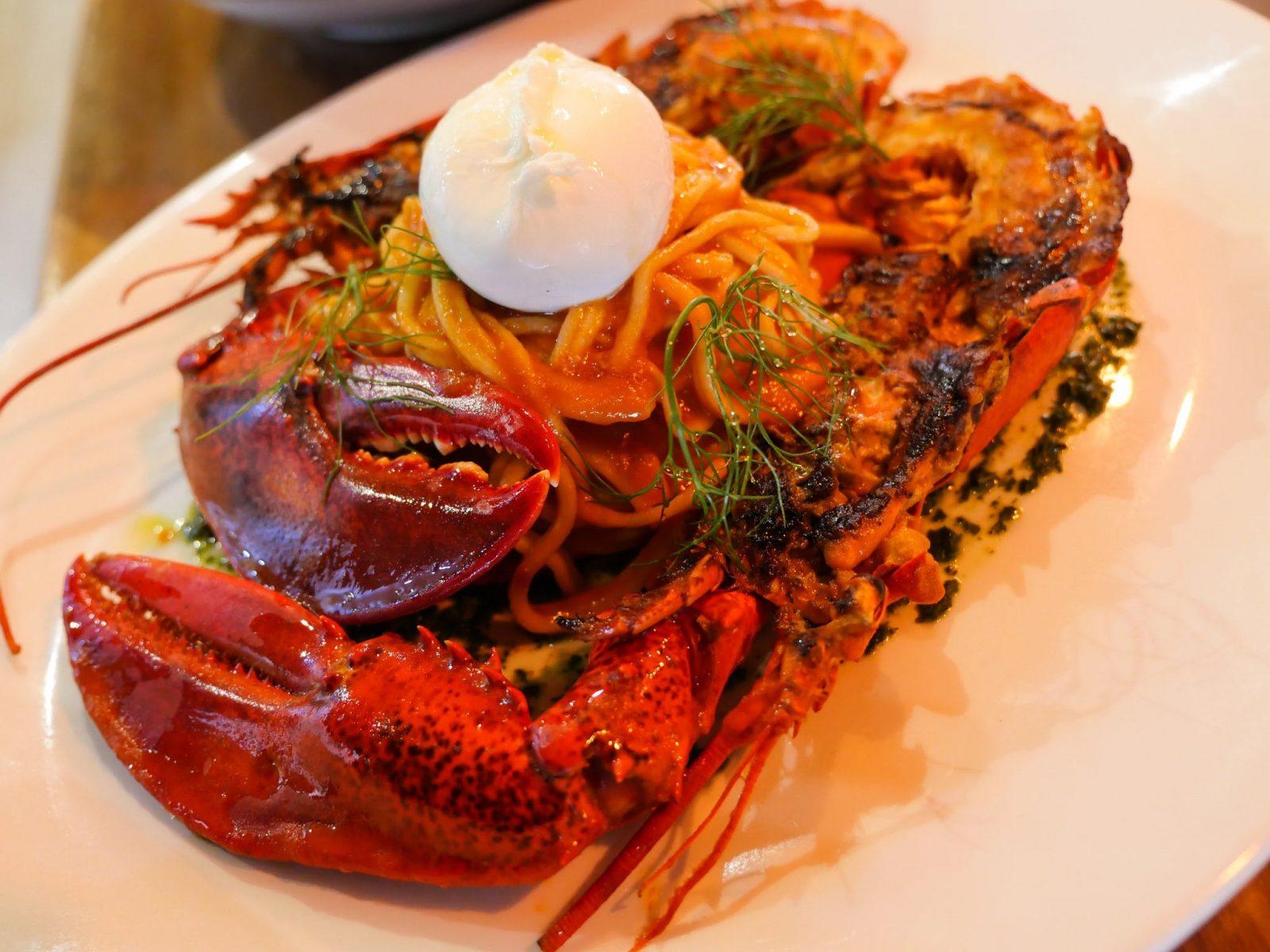 Maine Lobster on house spaghetti