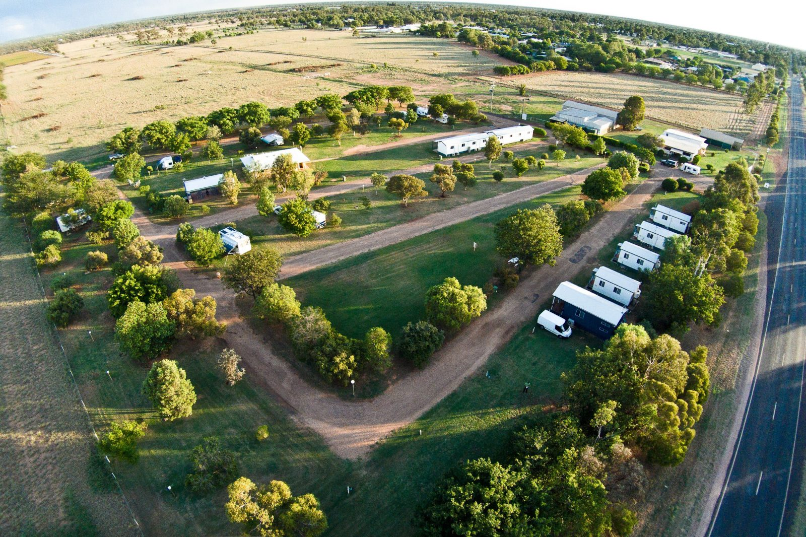 Spacious mostly drive sites all grassed plus modern cabins to suite singles, couples and families