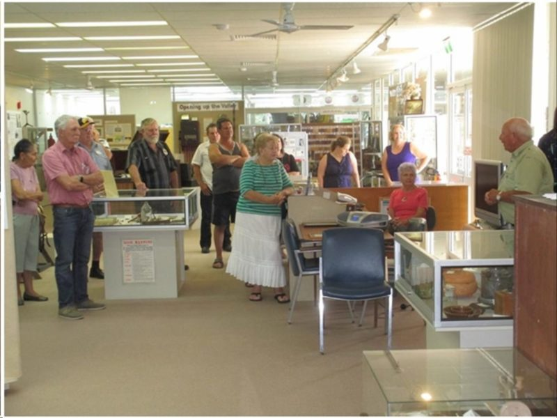 Visitors given a guided tour of the Pioneer Valley Museum