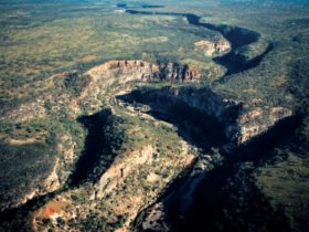 Aerial view of the gorge.