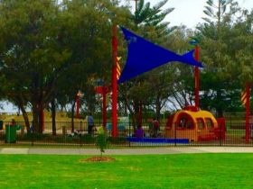 Childrens play equipment at Pratten Park