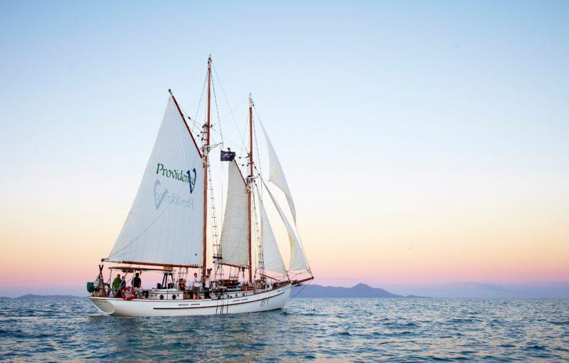 Providence V is a Gloucester schooner, a baby tallship.