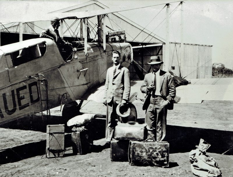 Passengers awaiting their flight in Longreach