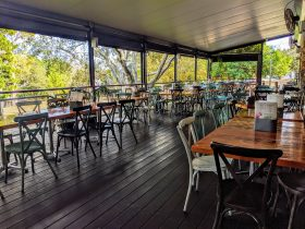 Queens Park Cafe Deck.