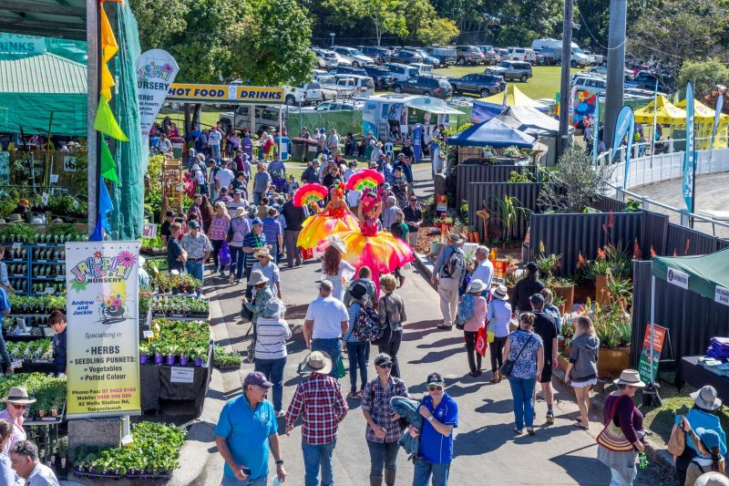 Crowds at the Queensland Garden Expo held on 12-13-14 July 2019