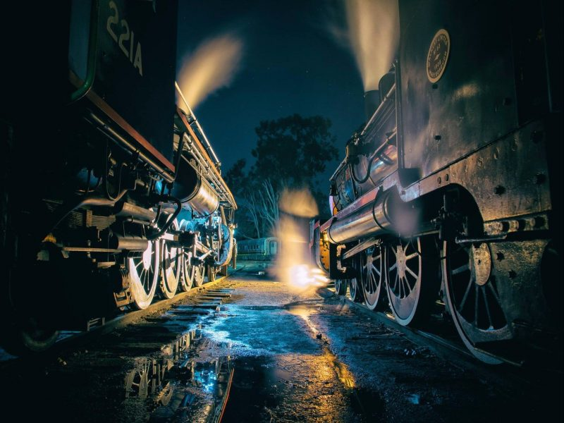 two steam engines