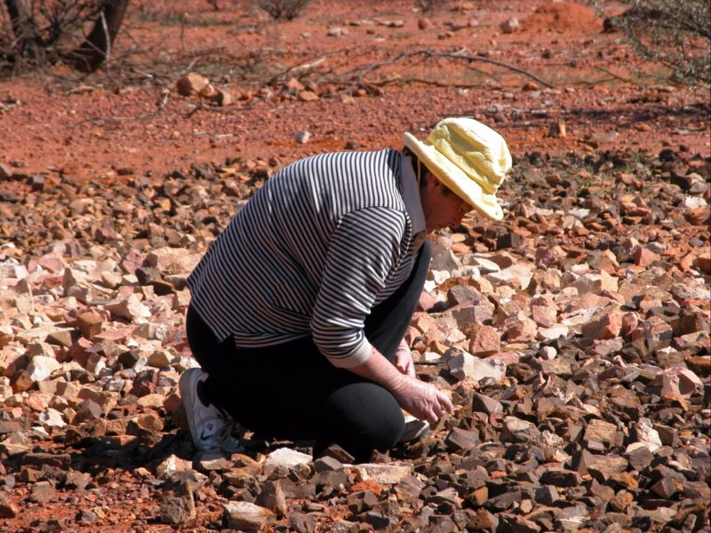 searching for your bit of opal.