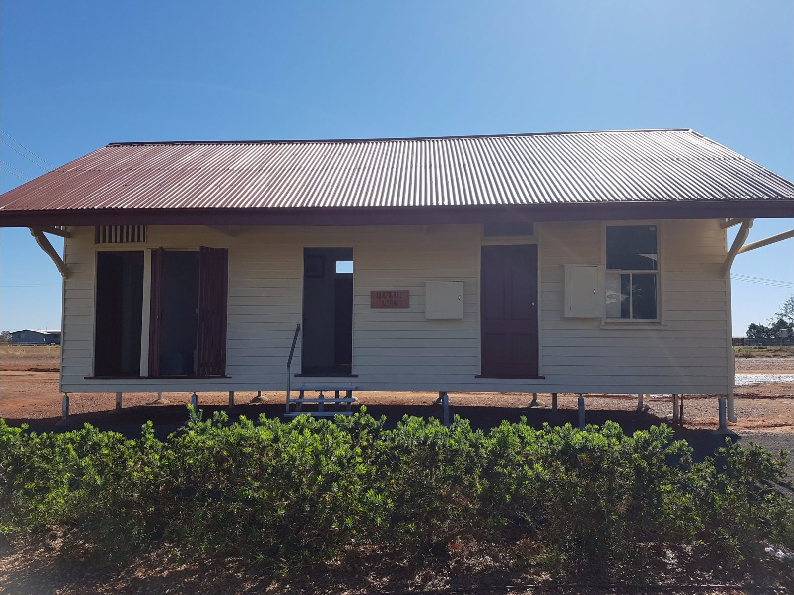 This building is the original Cheepie Railway Station, relocataed in Quilpie February 2017