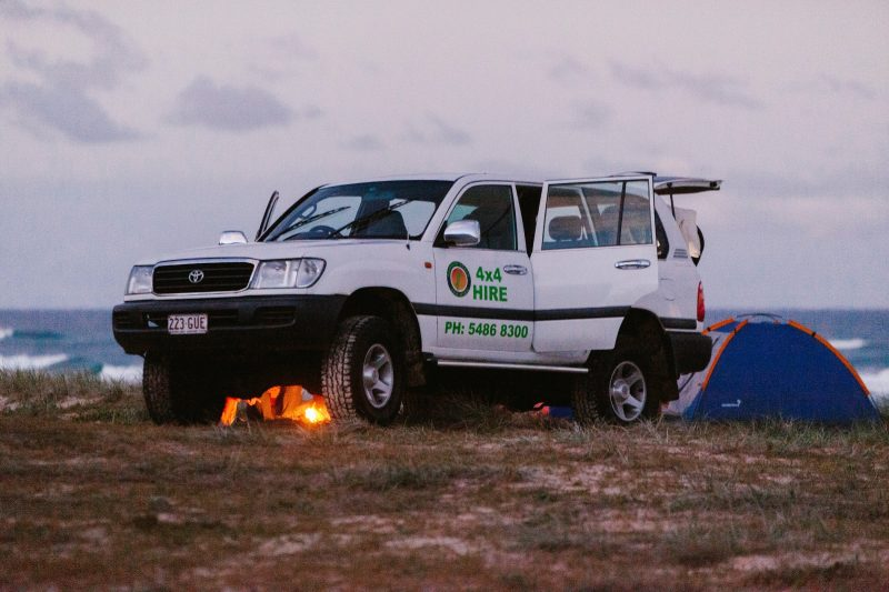 Fraser Island Camping 4WD hire rental explore Fraser island 4x4 hire