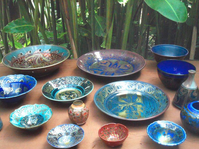 Pottery at Rainforest Gems Gallery, Tolga, Atherton Tablelands