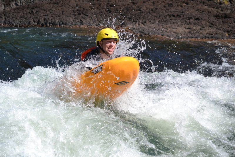 Extreme white water River boarding Tully River