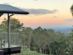 This is the view from Tranquillity one of the latest luxury eco-Studios for 2 people