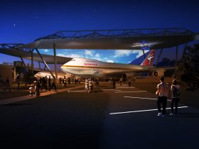 Artist's Impression of the Airpark Roof and light and sound show